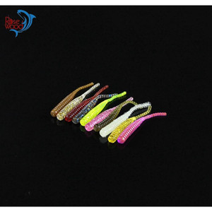 200pcs 4cm 0.3g Bass Fishing Worms 10 Colors Sile Soft Plastic Fishing Lures Artificial Bait Rubber In jllzeO xmh_home