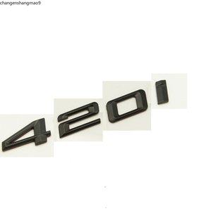 Matte Black ABS Number Letters Word Car Trunk Badge Emblem Letter Decal Sticker for BMW 4 Series 420i