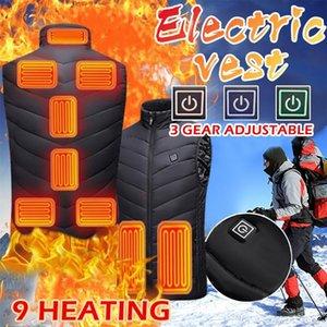 9 rincones Chaleco calentado Hombres Mujeres USB Chaqueta con calefacción Calefacción Chaleco de calefacción Pesca al aire libre Caza de caza Chaleco Senderismo Ropa térmica