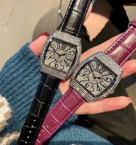 고품질 여자 시계 다이아몬드 시계 Reloj de Lujo Diamonds 가죽 시계 자동 Womens Watch Montre de Luxe
