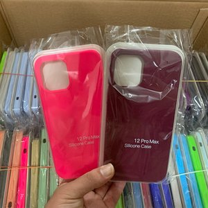 Original oem quality Silicone Cases For iPhone 12 12mini 12pro max 7 8 X XR Xs With Package