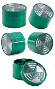 TOP Window Signal Shape Tobacco Crushers Grinders Metal 4 Pieces 63mm Zinc Alloy Herb Grinder Smoking Accessories AHF5266