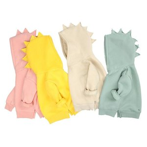 Детские динозавры с капюшоном свитер конфеты цвет одежды весна 2021 детская бесстрашная вершина корейского издания детей носить BWE4755