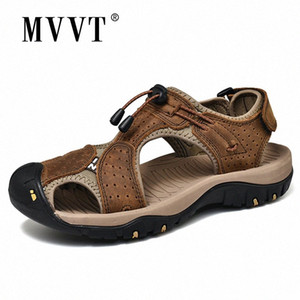 Véritable Cuir Casual Hommes Sandales Sandales Main Summer Beach Sandales Protection Outdoor I3XQ #