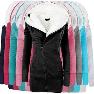 Zogaa 2020 Winter Women Jackets Cotton Coat Padded Long Slim Hooded Parkas Female Plus Size Warm Wool Outwear Clothing