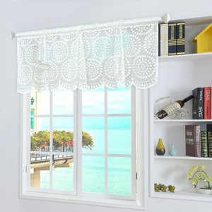 Curtain & Drapes Modern Plain Voile Tulle Short For Cabinet Door Bedroom Home Decor Children's Window Screen Textile