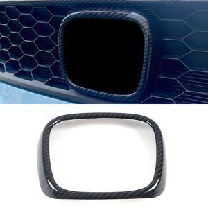 For Honda Fit 2020 2021 Car Accessory Front Logo Circle Gloss Trim Cover Sticker Frame Chrome Exterior Decoration