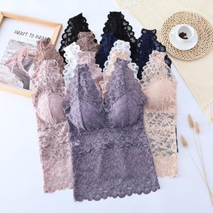Womens Plus Size Lace Sling Vest Sexy Wire Free Comfortable Top Summer Underwear Beautiful Back