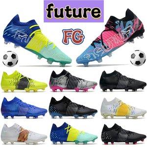 Lüks Gelecek Z 1-1 FG Erkekler Futbol Cleats Ayakkabı Bluemazing Derin Mavi Volt Beyaz Çok Sarı Uyarı Güneşüstü Xilver Erkek Tasarımcı Futbol Sneakers Botlar