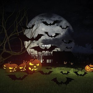 Fashion Hot 12pcs set Black 3D DIY PVC Bat Wall Sticker Decal Home Halloween Decoration