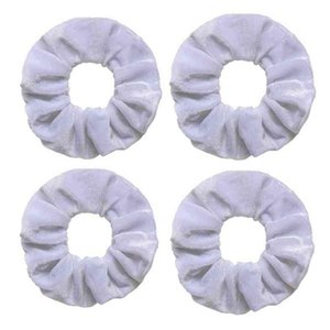 Halloween Christmas Pure White Korean Flannelette Pig Large Intestine Hair Circle Fashion Baby Ins Velvet Large Intestine Circle Solid Colors Jewelry H914CNKI
