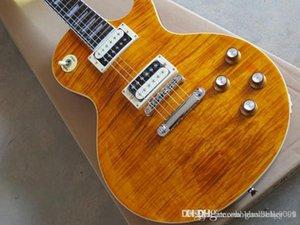 Gjgfhgjh Commercio all'ingrosso 2014 Nuovo arrivo Slash Guitar LP Tradizionale Chitarra elettrica Guitar Arancione Sunburst Guitar