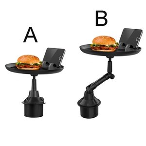 Car Dining Tray Travel Holder Multifunctional Adjustable Drink Food Desk Rack Cup Holders Small Table Interior Accessories