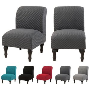 Armless Chair Cover Solid Color Single Seat Sofa Slipcover Elastic Accent Chair Slipcover for Dining Room Home Decor