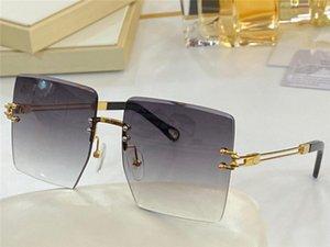 293 Neue Mode-Sonnenbrille mit UV-Schutz für Frauen Vintage Square rahmenlos Beliebte Top-Qualität Com mit Case Klassische Sonnenbrille