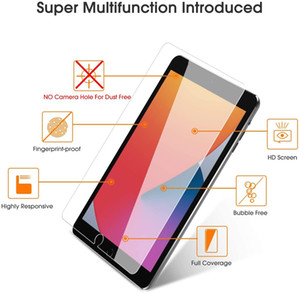 For IPAD 8th Generation 10.2 2020 9H Hardness HD Clear Screen Protector Bubble Free Anti-Scratch Tempered Glass With Retail Package