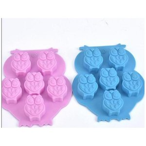 Microwave Oven Sile Mold Lovely Owl Shape Ice Tray Moulds Non Toxic Easy To Clean Chocolate Cake Molds jllVpU xmh_home