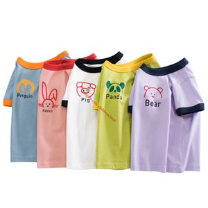 5 Pieces Wholesale Baby Kids T-Shirts Fashion Pure Cotton Boys Girls Clothing Summer Outdoor Children Clothes 30+ Colors Size 90cm~140cm