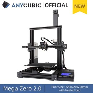 Printers ANYCUBIC 3D Printer, Mega Zero 2.0 Printing With Bed All-Metal Frame FDM DIY 220x220x250mm