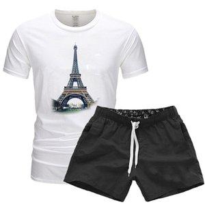 Hombres chándales manga camiseta top cosechada + pantalones cortos traje ropa de diseñador moda verano sweatshirt shorts shorts sets beach fino conjunto