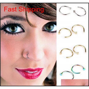Fashion Fake Septum Medical Titanium Nose Ring Piercing Silver Gold Body Clip Hoop For Women Girls Septum Cli qylHal new_dhbest