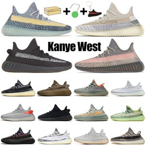Кроссовки Kanye для мужчин и женщин, статические светоотражающие мужские кроссовки Ash Blue Pearl Stone Bred Cinder Carbon, спортивные кроссовки