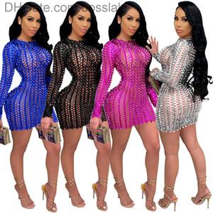 Dress da donna Sexy Dress Dress 2021 manica lunga girocollo moda hip pack nightclub abiti da donna Nuova gonna moda