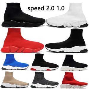 2021 Mens sock speed trainer 1 2.0 Casual shoes Platform womens Sneakers cushion Triple Black White Classic2017with Lace jogging walking outdoor size 35-45