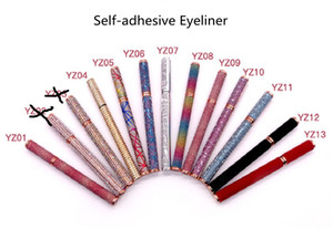 IN stock!!Newest Self-adhesive Eyeliner Pen 12 styles Glue-free Magnetic-free for False Eyelashes Waterproof Eye Liner Pencil Top Quality