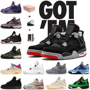 retro 4 4s off white sail travis scott With Box JUMPMAN 4 4s Bred Basketball Shoes Mens Womens Undefeated Starfish Cactus Jack Sail Black Cat KAWS Gray Off Trainers 스니커즈 36-47