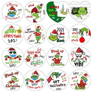 Grinch Quarantine Christmas Ornaments Xmas Hanging Personalize for Christmas Tree Decor Wearing Mask Designer 2021 To My Daughter GWD9835