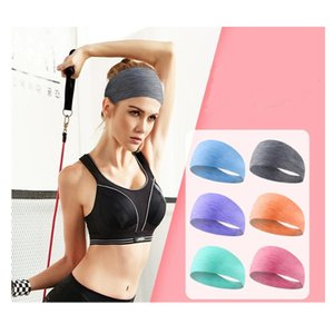 Unisex Anti Sweat Elastic HairBand Multifunctional Head Scarf Sports Solid Color Wide Headband Sweatband Running Sweat Hair Band