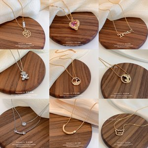 Pendant Simple Personality Steel Necklace Women's Dign Sense Ins Fashion Brand Pendant Temperament Net Red Clavicle Chain