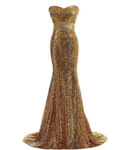 2021 эндотек новые длинные сексуальные золотые королевские голубые блестки без бретелек вечерние платья официальные выпускные вечеринки ES Vestido B9PK