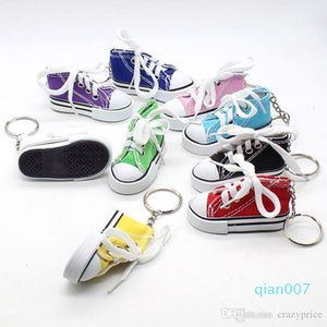 Creative Key Ring Chain Mini Canvas Sneaker Tennis Keychain Simulation Sport Shoes Funny Keyring Pendant Gift LXL9NQDN