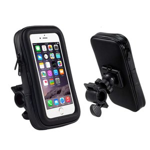 Bicycle electric motorcycle scooter navigation bracket riding waterproof rainproof mobile phone bag