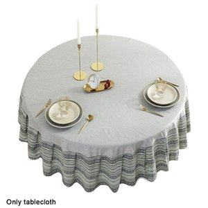Table Cloth Birthday Party Dining Room Restaurant El Kitchen Round Tablecloth Waterproof Ethnic Style Wedding Home Decor Outdoor Mat