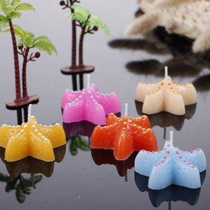 2021 Свадебные свечи Creative Starfish Seashell Crafts Свеча для праздничных украшений для вечеринки Дом Настольные Украшения Свеча