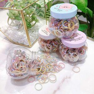 Caja de cuerda pequeña banda de goma limpia caja de cuero color cabello simple círculo fino flequillo nuevo estilo para japonés y coreano