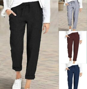 Fashion Streetwear Cute Candy Pencil Pant Women Lace Up Slim High Waist Straight Pants Female Casual Office Work Trouser 2021