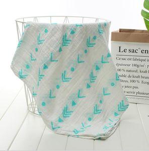 Infant Blanket Double Gauze Wraps Muslim Cotton Plaid Baby Swaddle Newborn Infant Soft Bath Towel Wrap Baby Newborn Wraps Towels DWC6282