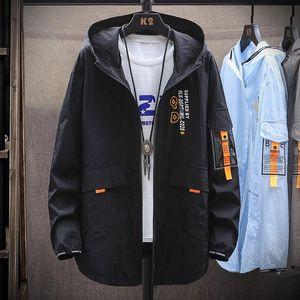 Куртки мужской куртки с капюшоном мужской тонкий солнцезащитный крем куртка мужская мода тонкий повседневный большой размер сплошных цветных пальто бренда одежда