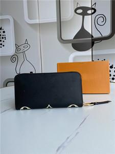 2021 NUEVO l Bag Billfold de alta calidad Patrón de Plaid Patrón de mujer Mujer Pures Pures Diseñador de alta gama L Billetera con caja