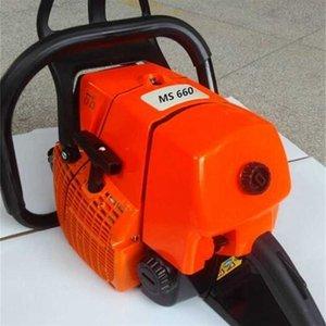 Chainsaws Высококачественные заводские продажи садовые инструменты режущие деревянные машины 91.6CC 660 Большая мощная бензиновая бензопила с 18 дюйма GUID BAR 717R