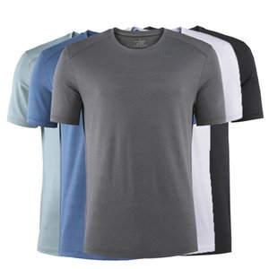 Quick T-shirt Drying Clothes round Neck Short Sleeve Sports Fitness Men's Summer Outdoor Reflective Night Running