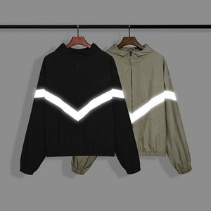 ESS Reflective coat jacket Designer fashion street style tracksuit Loose and thick high quality fojd