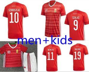 20211111111111111 22 # 9 Szalai موحدة رجل # 10 szoboszlai الرئيسية الرجال + أطفال كرة القدم قميص