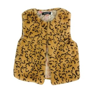 Vest Born Infant Baby Girls Faux Fur Winter Clothes For Girl Plush Leopard Print Sleeveless Cardigan Outwear Autumn Coat