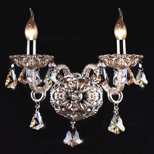 Luxury Wall Sconce Lighting European-style wall lights mirror front lamp bedside lamp crystal bedroom