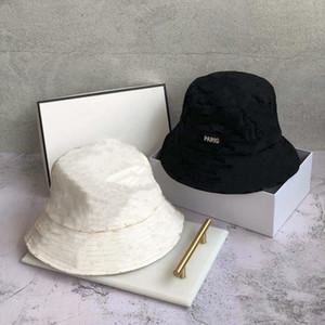 Brand Designer Cotton Letter Luxury Bucket Hat For Mens Womens Foldable Caps Fisherman Beach Sun Visor Sale Folding Man Cap 34